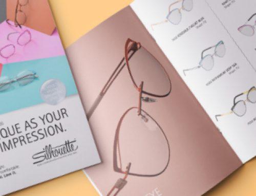 POS-Material für eine Silhouette Brillenkollektion