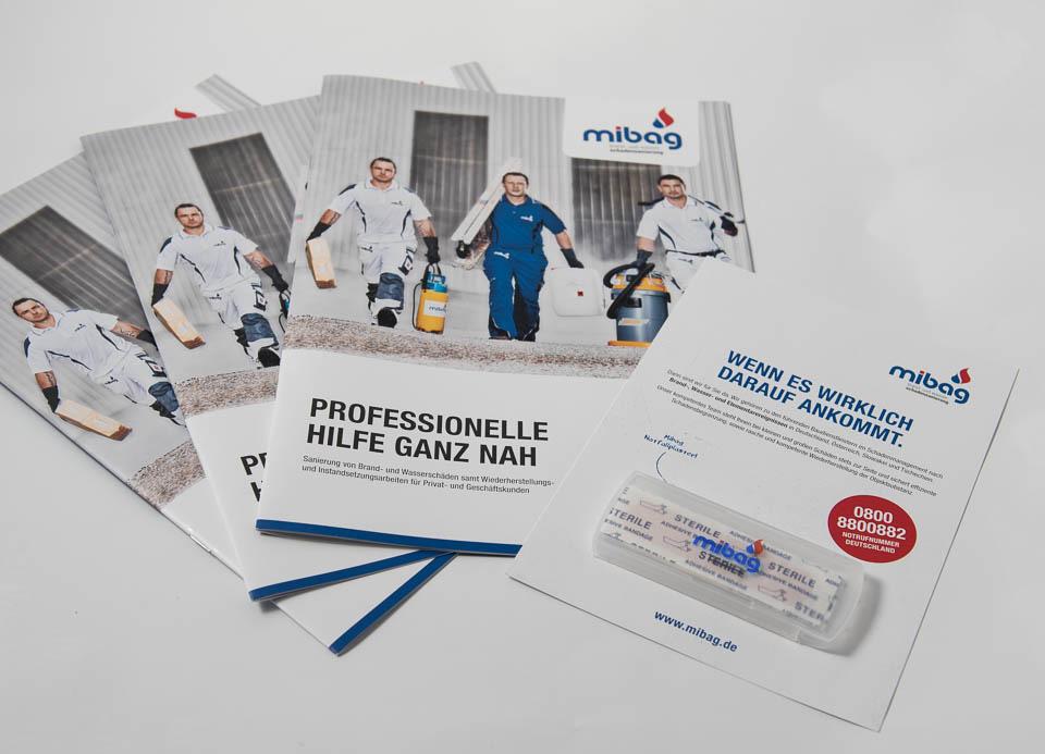 Material für die deutsche Sanierungsmesse.