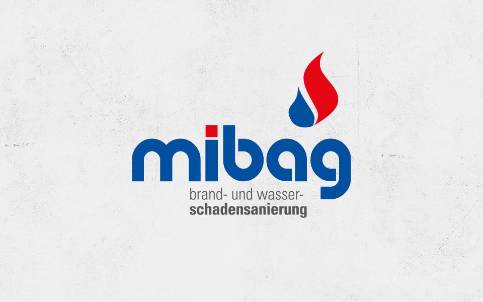 Mibag Logo auf Beton Struktur